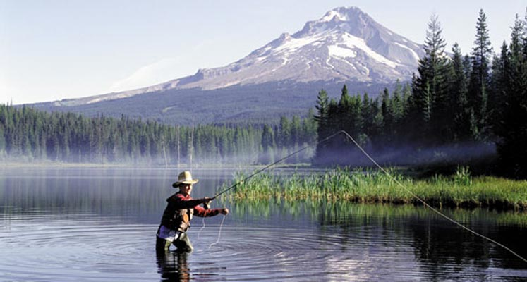 Recreation mt hood cabins for Clear lake oregon fishing